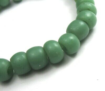 "25 Rare Stunning Old Small Sea Foam Green ""Padre"" Antique Beads African Trade"