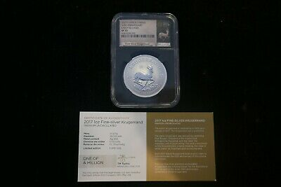 2017 S.africa 1 Oz Fine Silver Kruggerand Coin Ngc Graded Sp70 50Th Anniversary