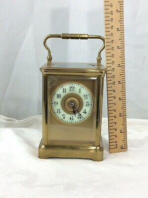 Large French Four Glass Timepiece Carriage Clock