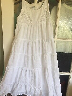 Girls Fab Zara White Maxi Dress Age 9-10 Years
