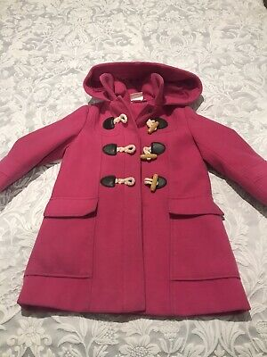 Gorgeous Age 3 Bright Pink Girls Toggle Coat by John Lewis Excellent Cond