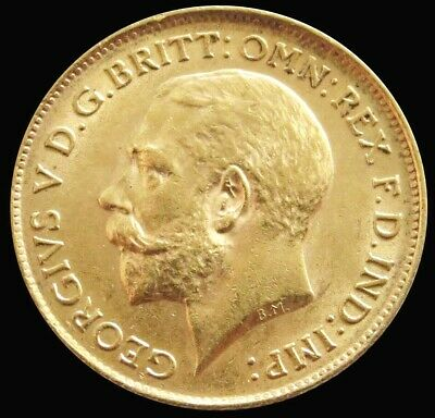 1912 Gold Great Britain 3.994 Grams 1/2 Sovereign King George V Coin