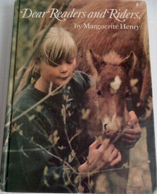 Dear Readers and Riders Marguerite Henry Horse Pony Story Book 1st Edition HC