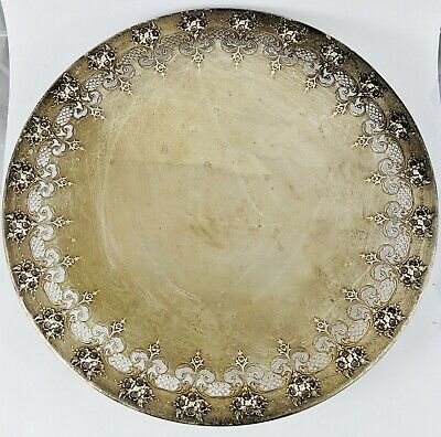 ANTIQUE American STERLING SILVER Pedestal CAKE PLATE Tazza by INTERNATIONAL Co