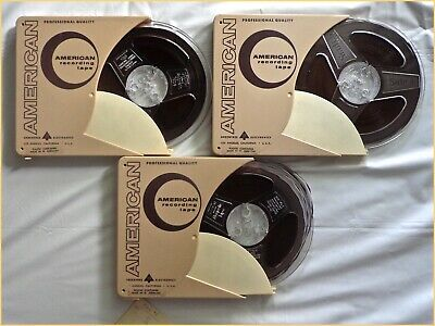 """SCOTCH 3M - 3 Reel to REEL 7"""" AUDIO RECORDING TAPES In Plastic Cases PreRecorded"""