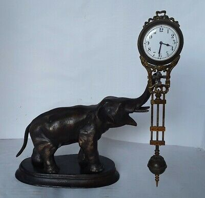 Antique Elephant Mystery clock by Junghans of Germany