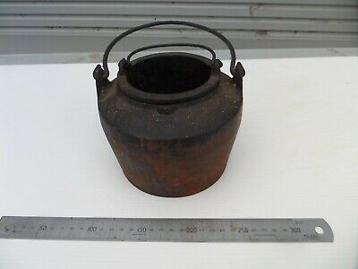 Large Vintage Antique Old Cast Iron Double Boiler Glue Pot