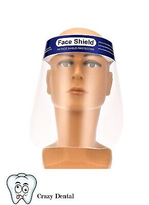 10 Pack Safety Full Face Shield Clear Protector Work Medical Dental~FAST SHIP!