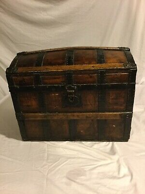 Antique Trunk, Refirbished Outside, Looks To Have Orginal Interior