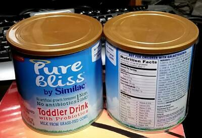 2 Cans Pure Bliss Similac Infant Formula Toddler Drink Exp 06/01/21 24.7 Oz