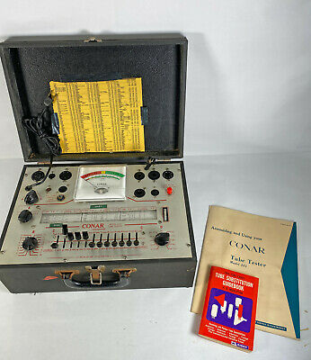 1968 Conar 223 Tube Tester • Manual • Good Unmolested Working Condition
