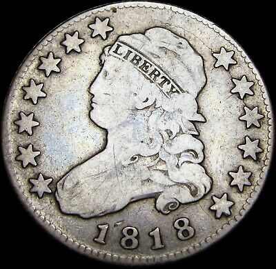 1818 Capped Bust Quarter Dollar Silver Type Coin --- NICE ---- #Z786