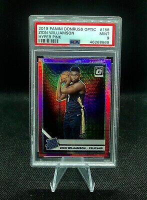 2019-20 Donruss Optic Zion Williamson Hyper Pink Prizm Rookie RC PSA 9 Mint