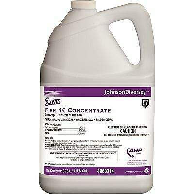Diversey Oxivir Five 16 Concentrate Disinfectant 4963314 (Case of 4) Gallons