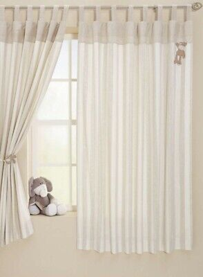 Mamas & Papas Once Upon A Time Tab Top Lined Curtains Ivory Beige