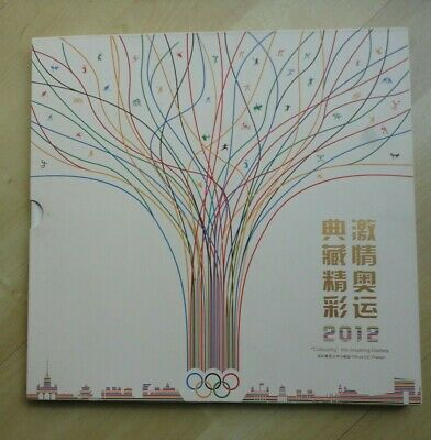 2012 Olympic Games China Post Stamp Book With Slip Cover