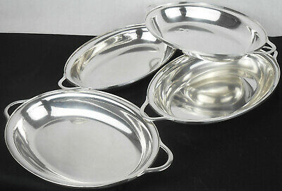 Set Of 4 Oval Serving Dishes - Antique - Silver Plated