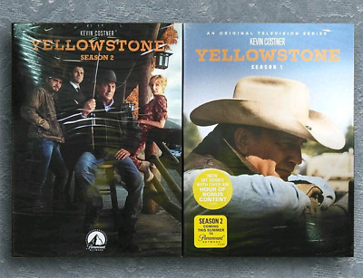 Yellowstone : Season 1 & 2 (2019,DVD, 8-Disc,Region 1 ) Shipping Fast US Seller