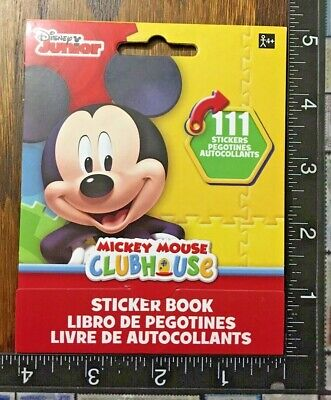 Mickey & Minnie Mouse, Donald Daisy +, Book With 9 Little Sheets Stickers #Micky