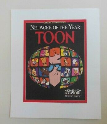 Vintage Cartoon Network  Promotional Poster 1997 Mint Toon Magazine Cover