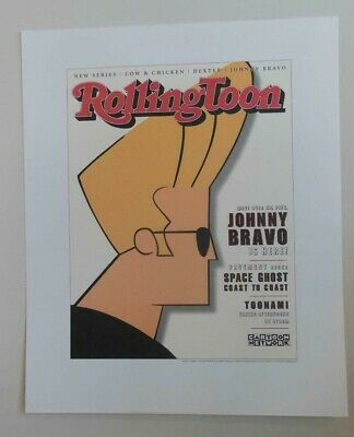 Vintage Cartoon Network Johnny Bravo Promotional Poster 1997 Mint