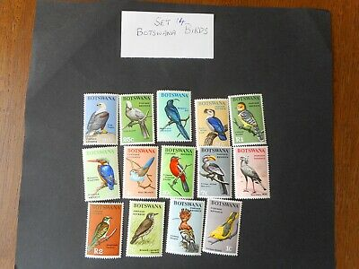 set of 14 mint postage stamps from BOTSWANA BIRDS