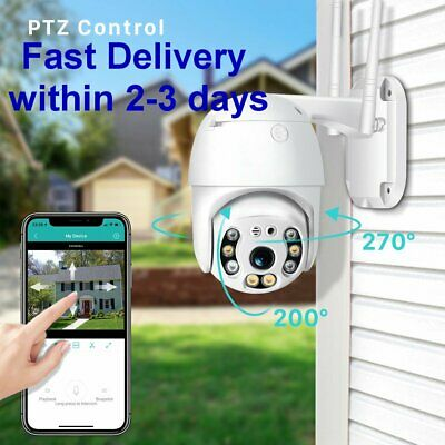Outdoor 4X Digital Zoom PTZ Wireless 1080p CCTV Camera, view on a mobile phone