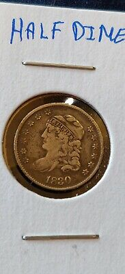 1830 Capped Bust Silver Half Dime 5 C