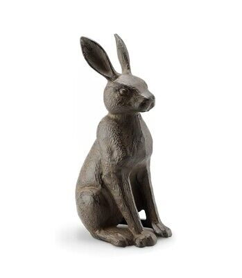 Cast Iron Hare Good Listener Indoors Or Outside Doorstop