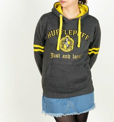 Official Harry Potter Hufflepuff Applique Charcoal Hoodie