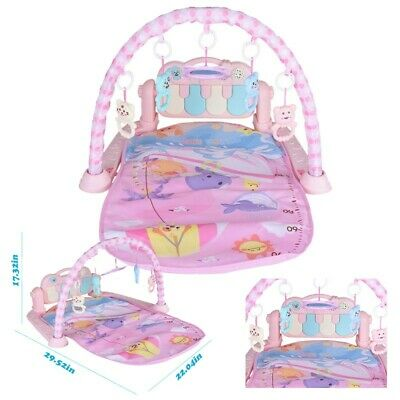 3-In-1 Baby Light Musical Gym Play Mat Lay & Play Fitness Fun Piano Boy Girl NEW