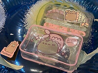 Pusheen Accessory Bag Set * NEW * SOLD OUT* Cosmetic Bag, Mirror, Comb & 3 Files