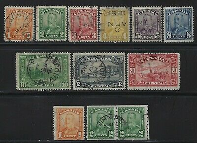 Canada - King George V Scroll Issue Used Stamps