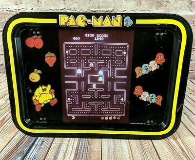 1980s PAC MAN TV TRAY MIDWAY Bally Arcade Game Room Food Tray Rare FAST Shipping