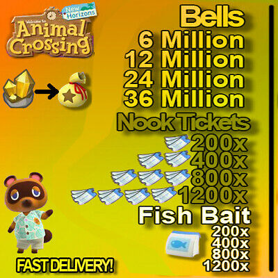 Nook Miles Tickets / Bells + Gifts All Day Fast Deliveryy !!!