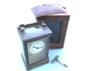 Antique Brass Carriage Clock - Vincent Weymouth - Working