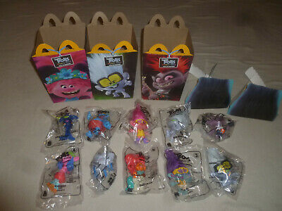 New Trolls World Tour Mcdonalds Happy Meal Toy Complete Set Of 10 Lot 2020 Poppy