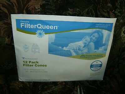 (12)Filter Queen Genuine Cones and (2) Filters New and Sealed.