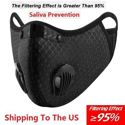 Face Mask Activated Reusable Carbon Filter Windproof Dust-Proof Outdoor Sports