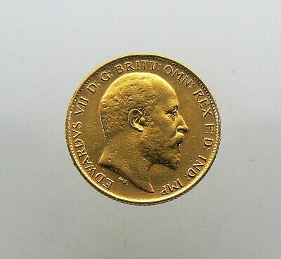 1906 Great Britain 1/2 Sovereign Gold Coin Edward VII