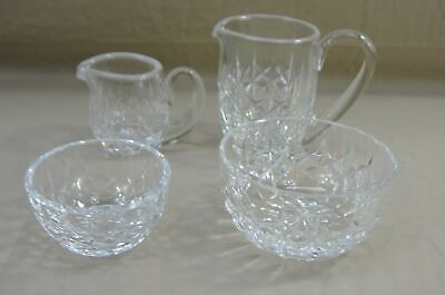 Lot Of Waterford Lismore Crystal Creamer Pitcher & Sugar Bowl Set Of 4