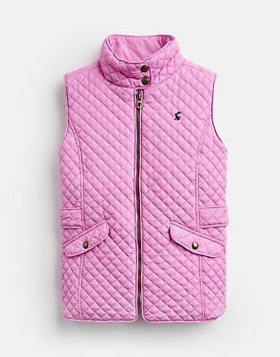 Joules Girls Jilly Quilted Gilet Jacket  - LIGHT PINK Size 11yr-12yr