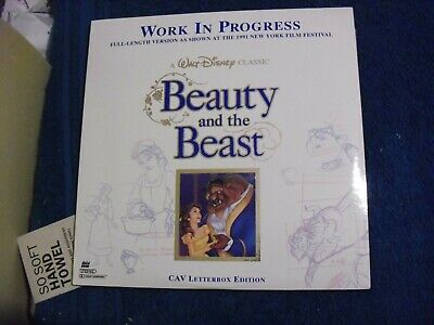 "Laser Disc Walt Disney's Classic "" Beauty And The Beast "" Work In Progress"