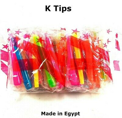 50 Extra Long Individually Wrapped Hookah Hose Mouth Tips Made in Egypt Male Tip