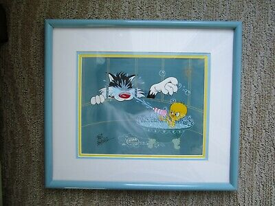 "Sylvester & Tweety ""The Squirt"" Ltd Ed Cel Friz Freleng Framed and Signed  # 315"