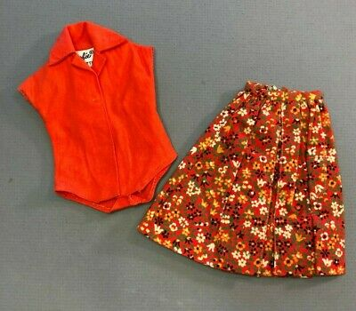 #1603 Country  Fair 1964 Skirt w/ Red pak blouse VINTAGE BARBIE doll