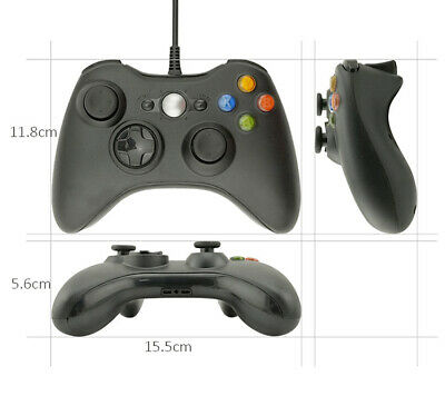 Controller USB Wired Game Pad Gamepad Joystick For Microsoft Xbox 360 / PC Black