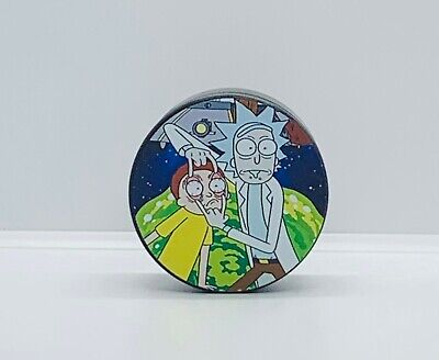 40mm 4-piece (3 chamber) Rick and Morty Tobacco Herb Grinder- FAST SHIPPING