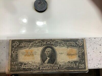 1922 $20 Gold Certificate *Grand Pa's Collection* Neat Washington Rare Note