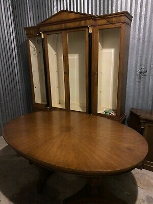 Mount Airy Dining Table, China Cabinet, Server Table.